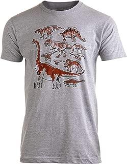 Dinosaur Species   Dino Fan Party Costume T-Rex Raptor Shirt Men Women T-Shirt