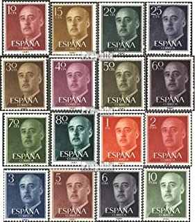 Spain 1040-1055 (Complete.Issue.) 1955 Francisco Franco (Stamps for Collectors)