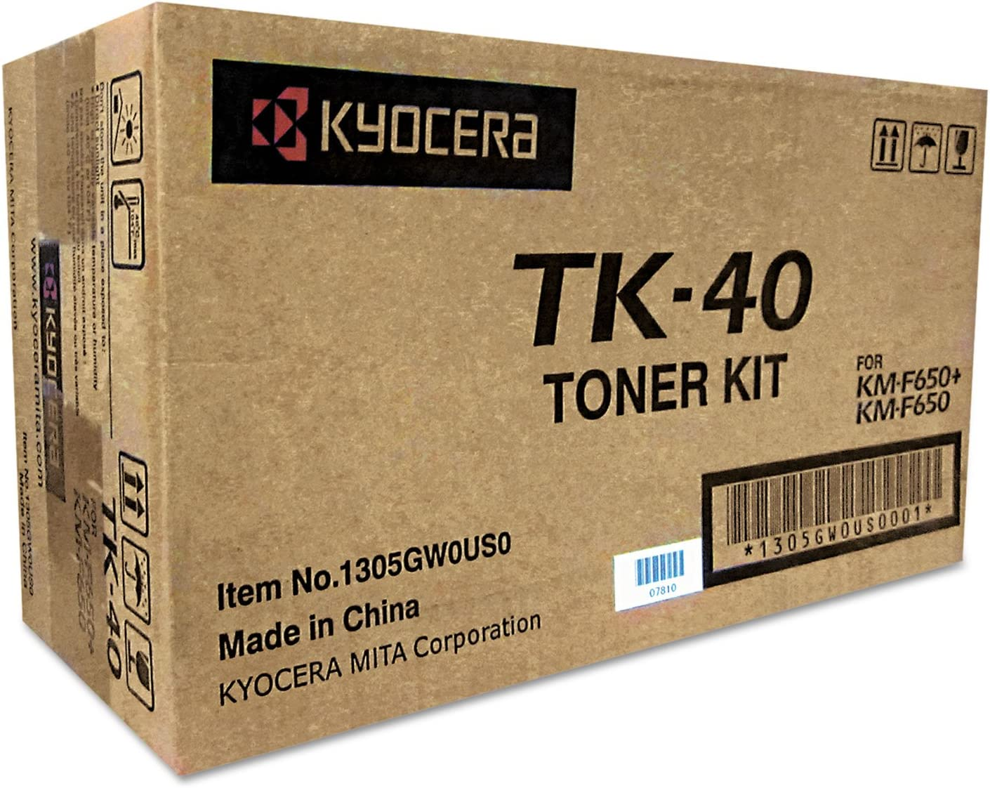 Black Toner Cartridge For KM-F650 AIO Fax Machine