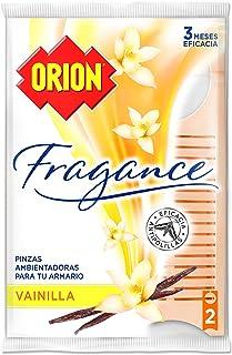 Orion Fragance - Pinzas Ambientadoras Antipolillas para Armarios, Aroma Vainilla - Bolsa de 2 Uni...