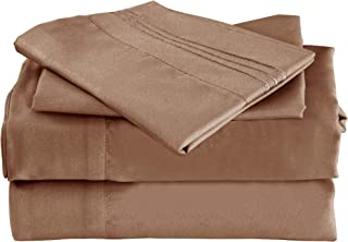 Mutlu Home Goods Bed Sheet Set - Double Brushed Microfiber Luxury Bedding - Deep Pockets, Hypoallergenic, Fade, Wrinkle, Stain Resistant -  4 Piece, Queen, Tiger Eye