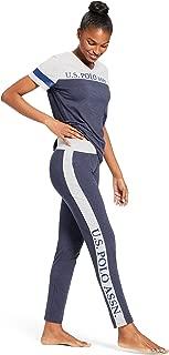 Womens Short Sleeve Shirt and Long Pajama Pants Sleepwear...