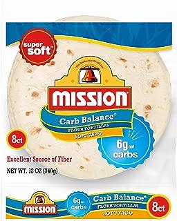 Mission Carb Balance Soft Taco Flour Tortillas | Low Carb, Keto | High Fiber, No Sugar | Small Size | 8 Count