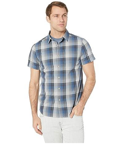 The North Face Short Sleeve Hammetts Shirt (High-Rise Grey Ash Plaid) Men