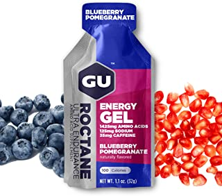 Gu Energy Roctane Ultra Endurance Energy Gel, Blueberry Pomegranate, 8Count