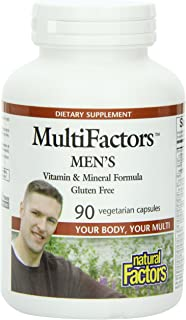 Natural Factors Multifactors Men's Veg-Capsules, 90-Count