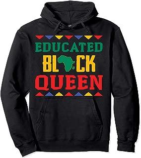 Educated Black Queen Dashiki Wauconda Hoodie Pride Gift