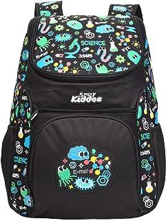 Smily Kiddos U Shape Backpack (Black) for Kids Boys Girls Water Resistance Backpack for Kids Boys Girls 1-Year Warranty St...