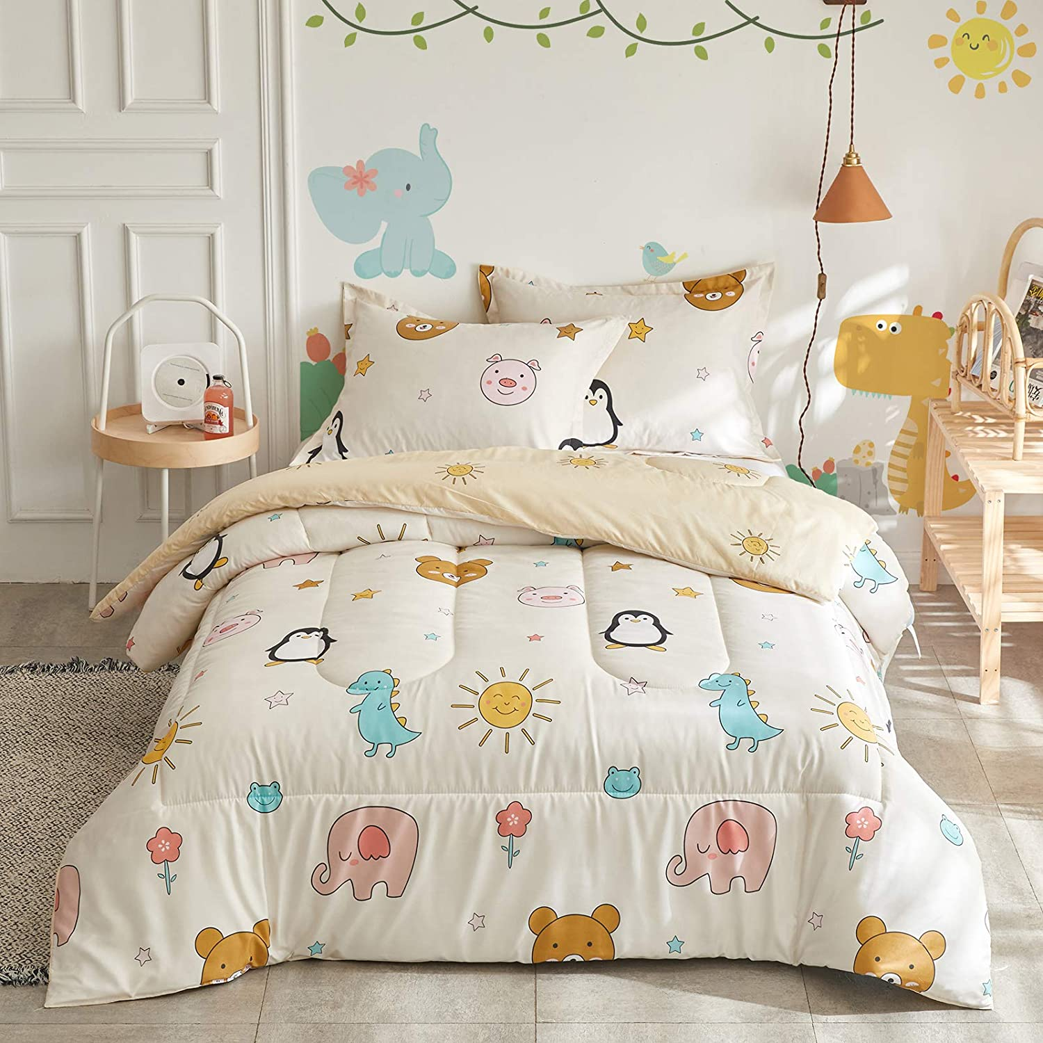 Flysheep Kids Queen Full Comforter Limited time Popularity sale 3 Colorful Bedding Set Piece