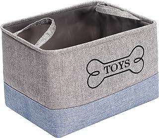 Morezi Boîte de rangement en toileavec poignée, panier à jouets pour chiots, convient pour transporter des jouets pour chi...