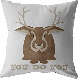 Red Gypsy Bohemian You Do You Throw Pillow Jackalope Cryptid Funny