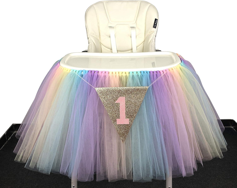 Originals Group 1st Birthday Originals Group 1st Birthday Frozen Tutu for High Chair Decoration for Party SuppliesTutu for High Chair Decoration for Party Supplies (Rainbow)