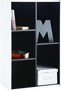 Demeyere - Estantería Multiusos, Color Blanco y Negro