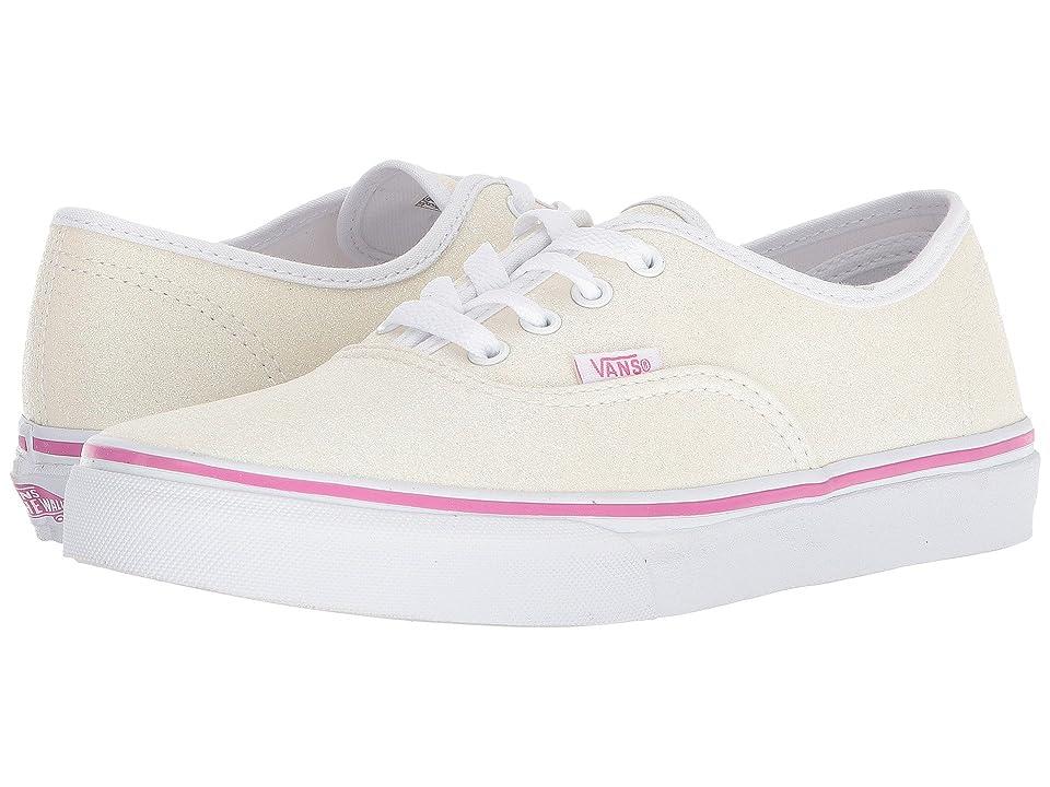 Vans Kids Authentic (Little Kid/Big Kid) ((Glitter) Rainbow White) Girls Shoes