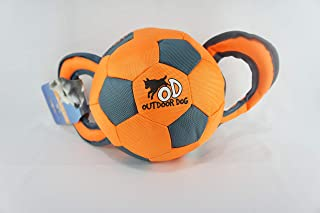 All for Paws Outdoor Ballistic Handle Ball, Orange/Green
