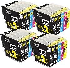 Yellow Yeti Reemplazo para Brother LC985 Cartuchos de Tinta compatibles con Brother DCP-J315W DCP-J125 DCP-J140W DCP-J515W MFC-J415W MFC-J220 MFC-J265W (8 Negro + 4 Cian + 4 Magenta + 4 Amarillo)