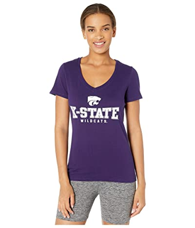 Champion College Kansas State Wildcats University V-Neck Tee (Champion Purple 2) Women