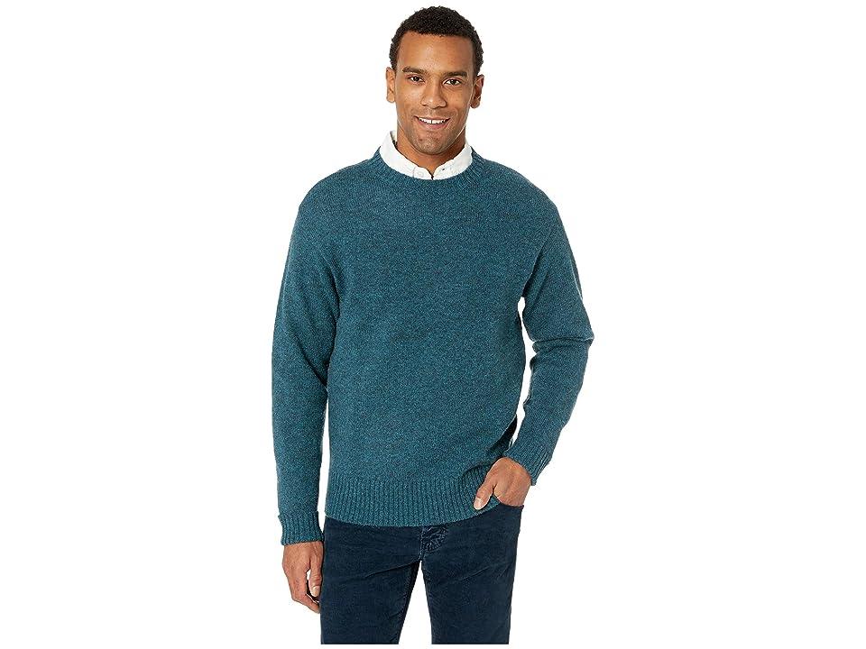 Pendleton Shetland Crew Sweater (Midnight Green) Men