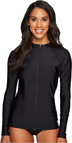 Speedo - Zip Front Long Sleeve Rashguard