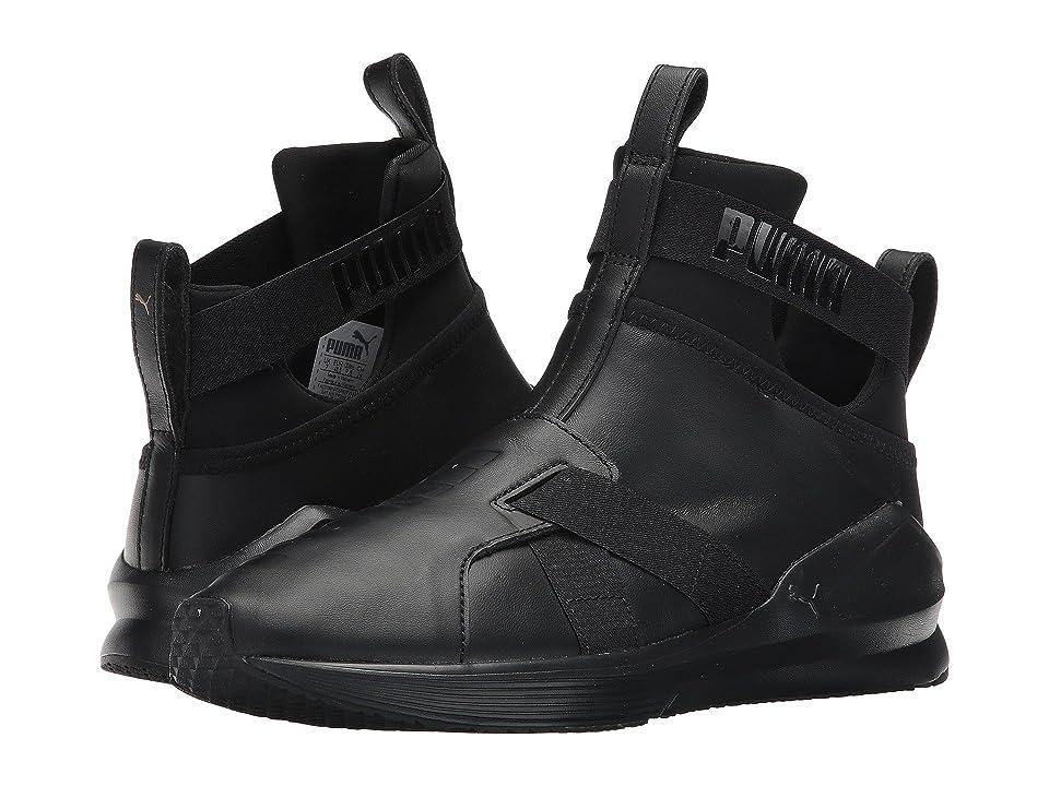 PUMA Fierce Strap Leather (PUMA Black) Women