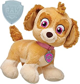 Build A Bear Paw Patrol Plush Skye 13in. with Bonus Clip On Badge