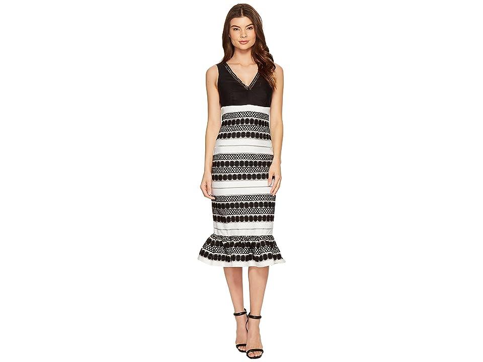 Nicole Miller Loren Party Dress (Black/White) Women