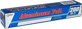 CHAMPS Standard Aluminum Foil - 200 Square Feet Heavy Duty Foil Wrapping Paper - Non Stick Tin Foil - Large Aluminum Foil ...