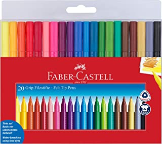 Faber-Castell FC155320 Zestaw Flamastrów Wielokolorwe 20 Sztuk
