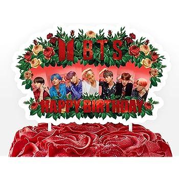 Amazon.com: K pop Boy Band Assorted Images Cupcake Picks ...
