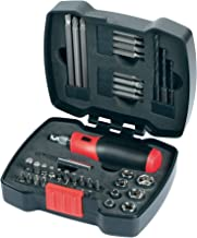 Black + Decker Hand Ratchet Set with Screwdriver Bits and Box Nuts 43-Piece - A7175-XJ, 2 Year Warranty