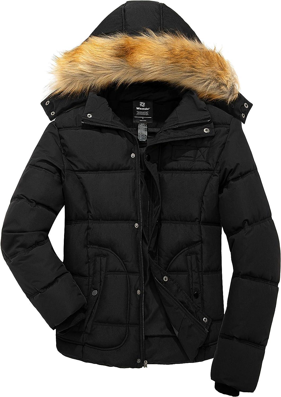 Wantdo Men's Winter Puffer Jacket Thicken Winter Coat Warm Padded Jacket with Hood
