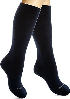SocksLane Cotton Compression Socks for Women & Men. 15-20 mmHg Support Knee-High
