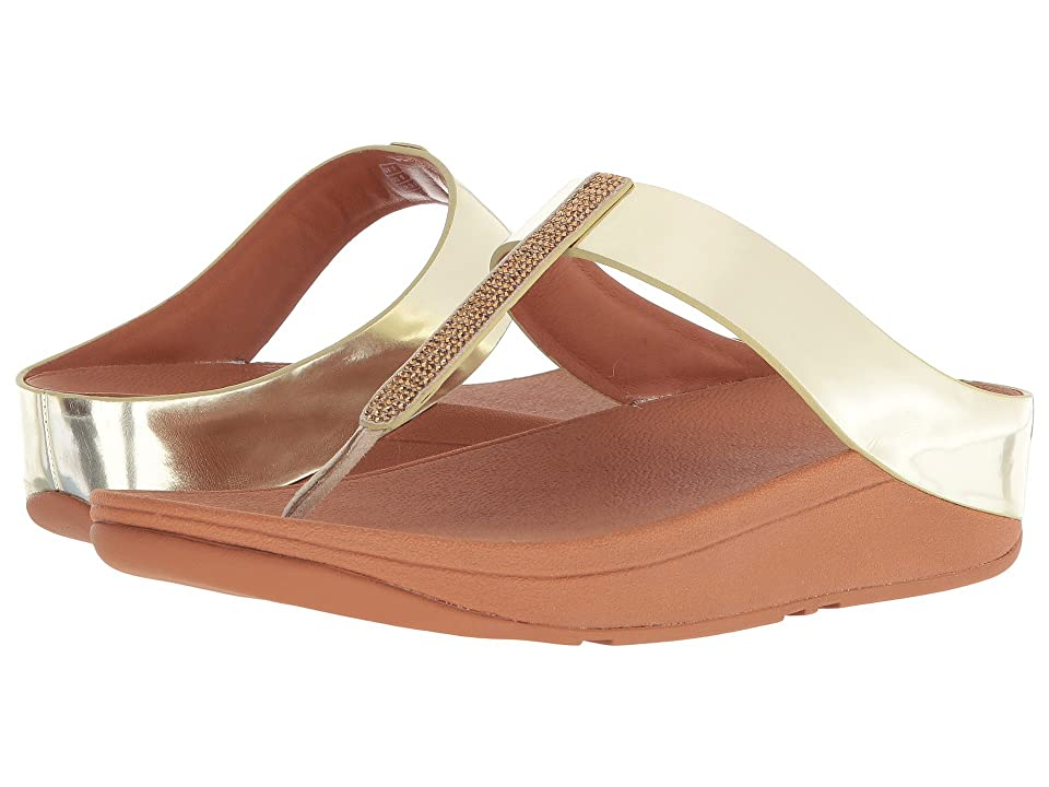 FitFlop Fino Crystal Toe-Thong Sandals (Gold) Women