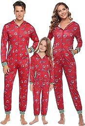 Winter Family Ensemble Pyjama Long pour Femmes pou