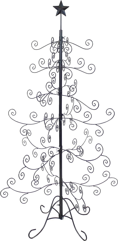 Sunnydaze Noelle Christmas Ornament Tree - Decorative Black Meta
