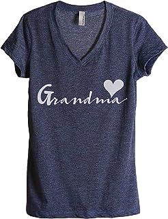 Thread Tank Grandma Heart Women's Fashion Relaxed V-Neck T-Shirt Tee