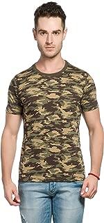 Alan Jones Military Camouflage Men's Round Neck Half Sleeve Cotton T-Shirt