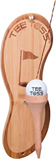 Tiki Toss Golf Ball Toss Game - 100% Bamboo - Be The First to Land The Ball Up On The Tee! (All Parts Included), 17 in. x 7 in. x 2 in, EMW9700642