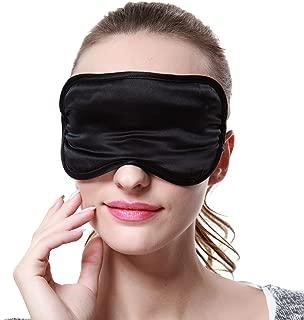 OOSILK Sleep Mask, 100% Mulberry Silk Eye Mask, 100% Silk Filling, Hypoallergenic, Facial Beauty, Adjustable (1, Black)