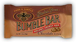 BumbleBar Gluten Free Organic Energy Chocolate Crisp, 1.4-Ounce Bars, 12-Count Box