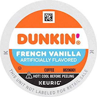 Dunkin' French Vanilla Flavored Coffee, 10 K Cups for Keurig Coffee Makers (Packaging May Vary)