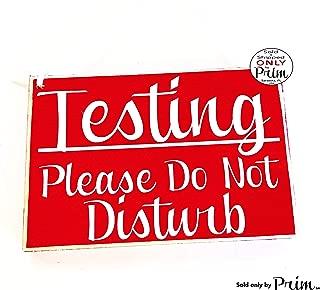 8x6 Testing Please Do Not Disturb Custom Wood Sign Teacher School Progress Students Class in Session Testing Silence Quiet Door Plaque