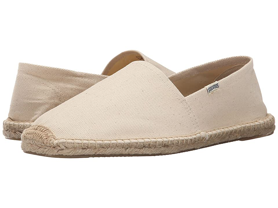 Retro Vintage Flats and Low Heel Shoes Soludos Original Dali Natural Mens Flat Shoes $41.90 AT vintagedancer.com