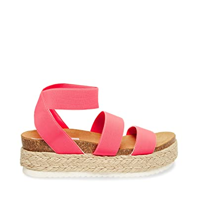 Steve Madden Kimmie Espadrille Sandal (Pink Neon) Women