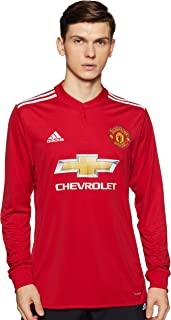 adidas 2017-2018 Man Utd Home Long Sleeve Football Soccer T-Shirt Jersey