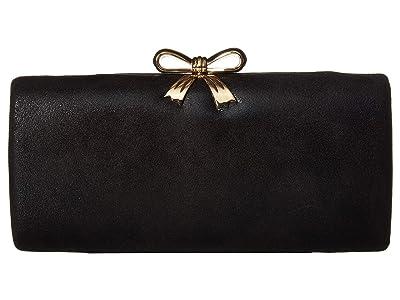 Jessica McClintock Sabrina Clutch (Black) Clutch Handbags