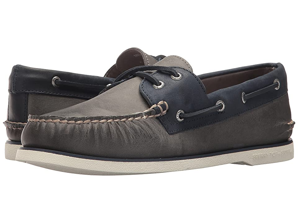 Sperry Gold A/O 2-Eye Roustabout (Grey/Navy) Men