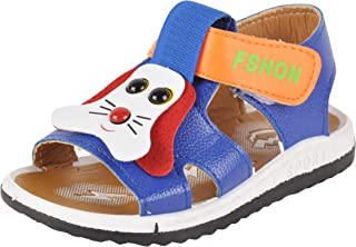 Yellow Bee Dog Design Sandals for Boys, Blue