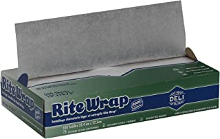 """Rite-Wrap Light-Weight Interfolded Dry Wax Deli Paper by GP PRO (Georgia-Pacific), White, RW106, 10"""" W x 10.75"""" L (Case of..."""