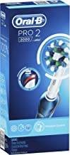 Oral-B PRO 2000  Rechargeable Electric Toothbrush, Dark Blue – Powered by Braun